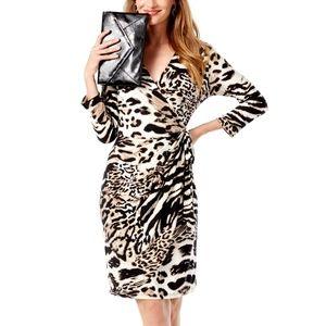 INC International Concepts Wrap Dress Animal Print